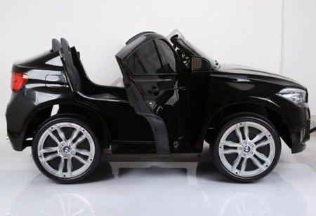 Kinderauto BMW X6M Doppelwagen wiederaufladbar schwarz