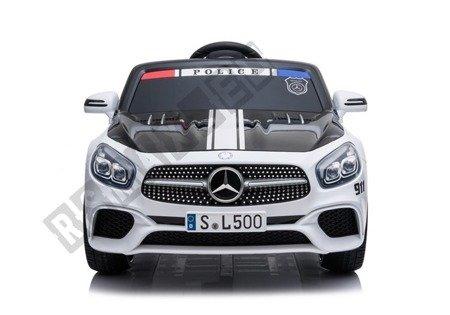 Kinderauto Mercedes SL500 Polizei Weiß Ledersitz EVA-Reifen 2x45W