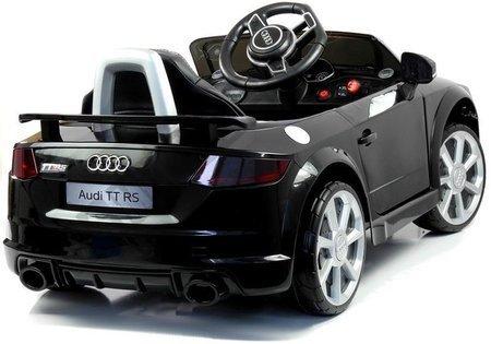 Kinderfahrzeug Audi TT RS Quattro Schwarz 2.4G Ledersitz Auto EVA Reifen