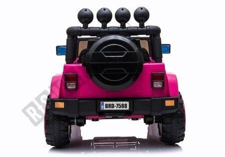 Kinderfahrzeug BRD-7588 Rosa Ledersitz EVA-Reifen Auto für Kinder