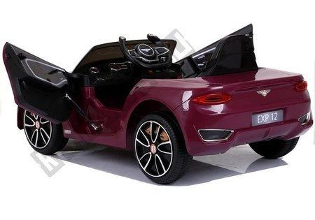 Kinderfahrzeug Bentley Rot lackiert Ledersitz EVA-Reifen Auto