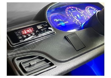 Kinderfahrzeug Jaguar F- Pace Blau EVA-Reifen Ledersitz LED Frontscheinwerfer