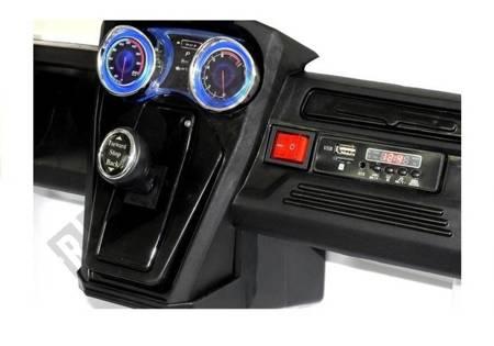 Kinderfahrzeug KL2988 Weiß 4x45W 2.4G USB, micro SD Auto Ledersitz EVA-Reifen