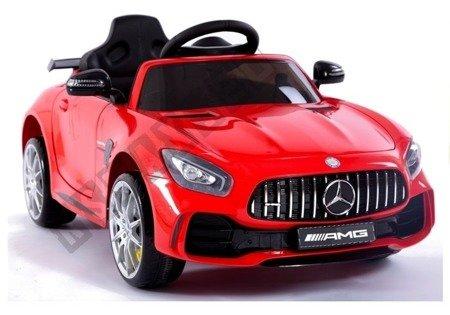 Kinderfahrzeug Mercedes AMG GT Rot lackiert EVA-Reifen Ledersitz Fahrzeug