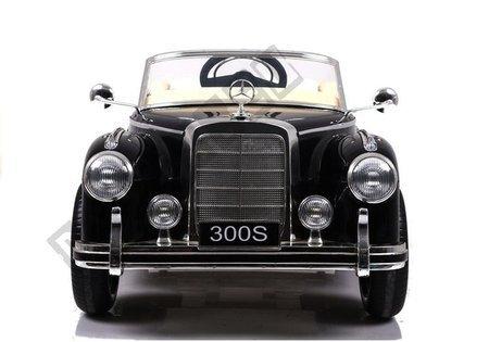 Kinderfahrzeug Mercedes-Benz 300S Schwarz lackiert Ledersitz EVA-Reifen Auto