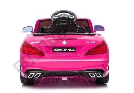 Kinderfahrzeug Mercedes SL63 Rosa