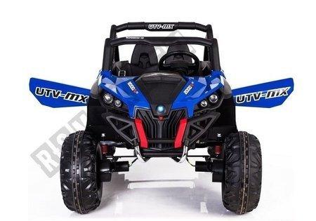 Kinderfahrzeug XMX603 mit MP4 Blau 4x45W  Ledersitz EVA-Reifen LCD Panel 2.4G