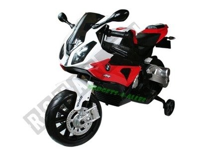 Kindermotorrad BMW S1000RR Lizenz Kinderelektroauto Kinderfahrzeug Dreirad Rot
