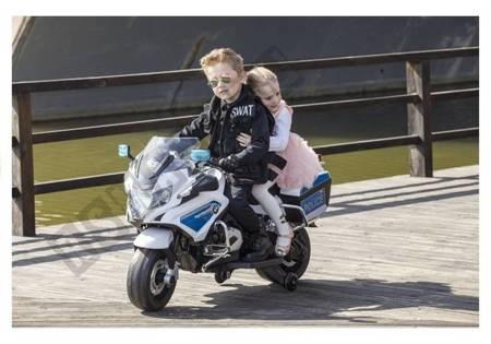 Motorrad BMW Polizei Weiß LED Frontscheinwerfer EVA-Reifen Motorrad