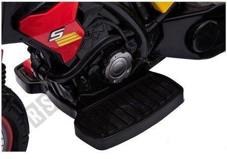 Motorrad GTM2288 Rot LED Frontscheinwerfer Musik-Panel Kindermotorrad 1x35W