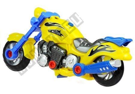 Motorrad zum Zusammenfügen 2in1 + Schraubmaschine Set 20 Elemente Set