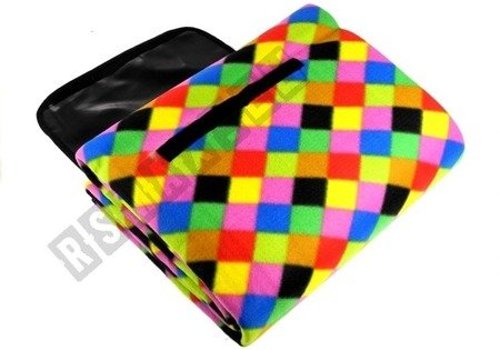 Picknickdecke 150x200 Regenbogenquadrat-Mosaik