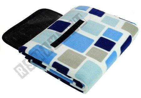 Picknickdecke 150x250cm blau-weiß kariert weiches Material