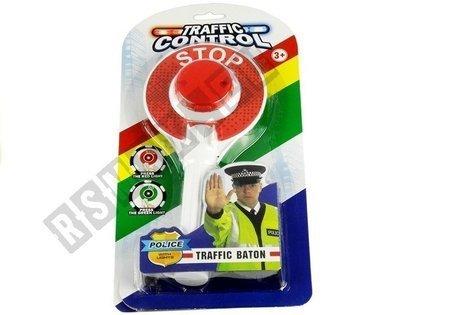 Polizeikelle Lichteffekte Polizei Rot Grün Signal Spielzeug für Kind Warnkelle