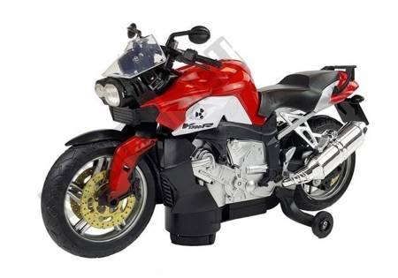 Rotes Motorrad Batteriebetrieben