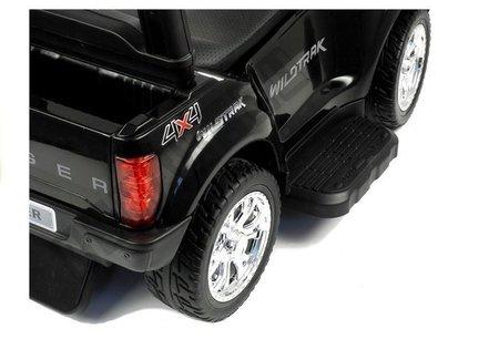Rutschauto Ford Ranger Wildtrak mit Schiebestange Schwarz Ledersitz Auto