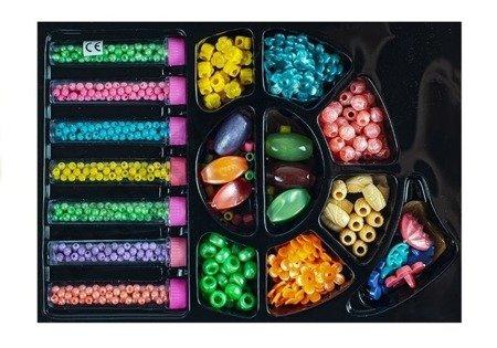 Set Kunststoffperlen Perlenset DIY großes Set Armbänder Schmuckkästchen Perlen