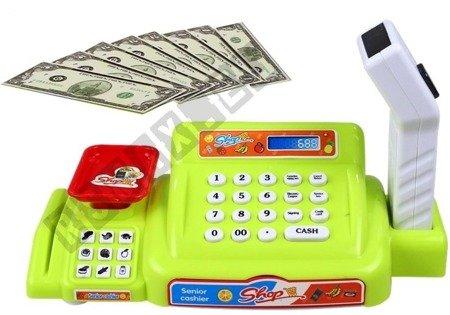 Spielkasse Einkaufskorb Spielgeld Kreditkarte Waage Lebensmittel