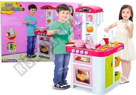 Spielküche umfangreiches Zubehör 44 Elemente Sound&Licht