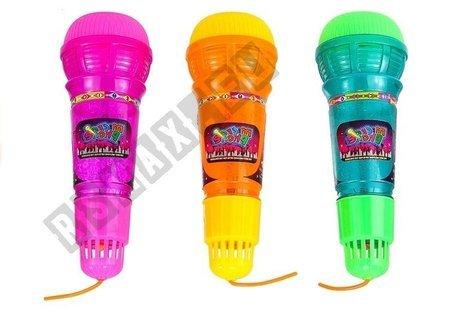 Spielzeug Mikrofon Licht Echo Wiederhall GELB Lichteffekte Mikrofon für Kinder
