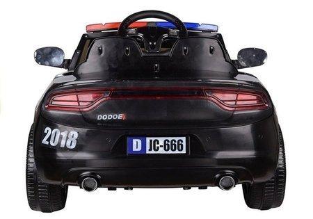 Auto na Akumulator Samochód Policyjny Czarny