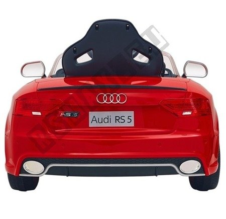 Auto na akumulator Audi RS5 czerwony lakierowany