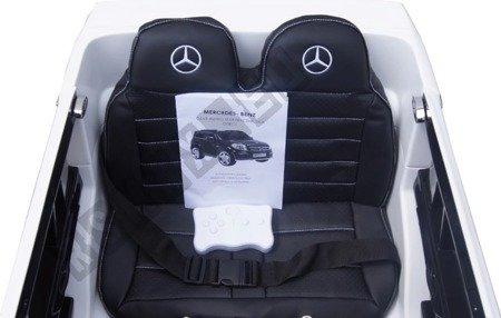 Auto na akumulator Mercedes GL63 AMG skóra biały