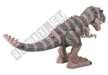 Dinozaur Na Baterie Tyranozaur Rex Chodzący Brązowy
