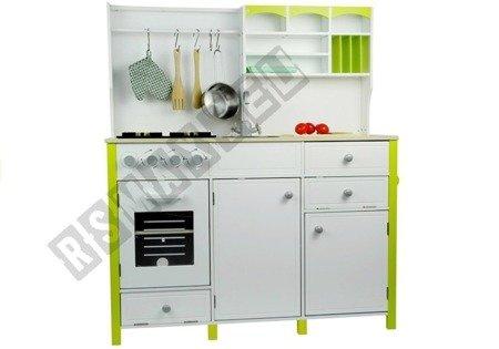 Drewniana Kuchnia Dla Dzieci Zielono Biała