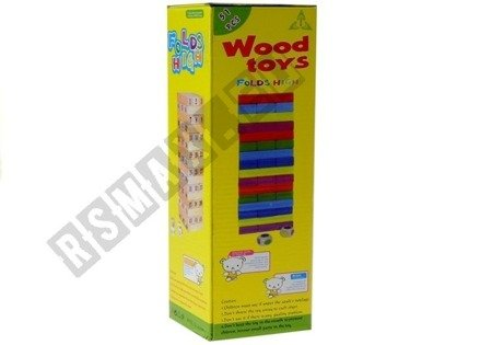 Gra Zręcznościowa Wieża  Drewniana 48 Klocków