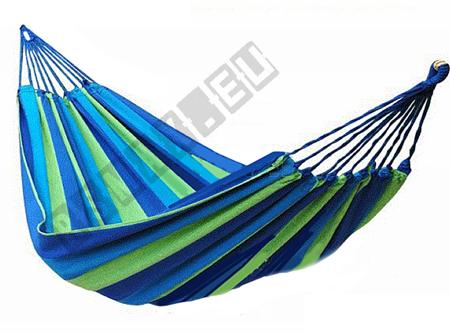 Hamak bez listwy duży 260x160cm niebiesko-zielony