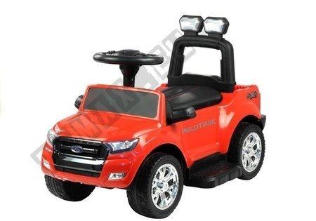 Jeździk Ford Ranger Wildtrak z Pchaczem Czerwony