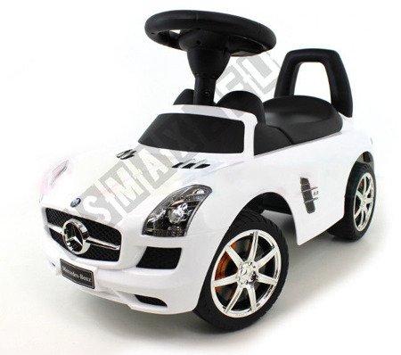 Jeździk MERCEDES SLS AMG pchacz chodzik biały