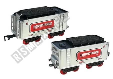 Kolejka Zestaw Wagoników z Lokomotywą 118cm x 87cm na Baterie Dym Dźwięk