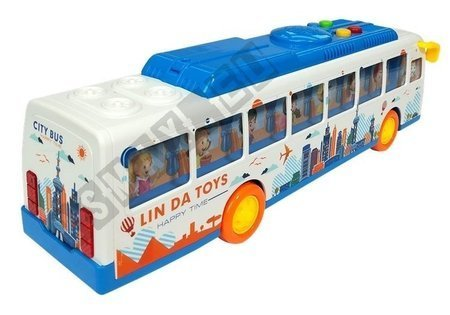 Kolorowy Autobus ze Światełkami Friction Linda