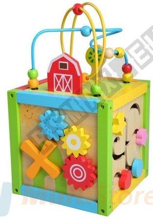 Kostka edukacyjna drewniana dla dzieci 5w1 ECOTOYS