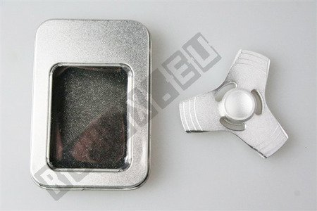 Oryginalny super FIDGET SPINNER aluminiowy srebrny