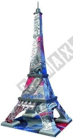 Puzzle 3D Wieża Eiffla Flag Edition 216 elementów