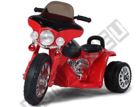 Super motor trójkołowy na akumulator czerwony !