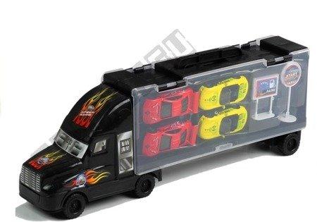 Tir Ciężarówka z Autkami Sorter Czarny