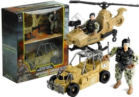 Zestaw Militarny Helikopter Auto Figurka Akcesoria